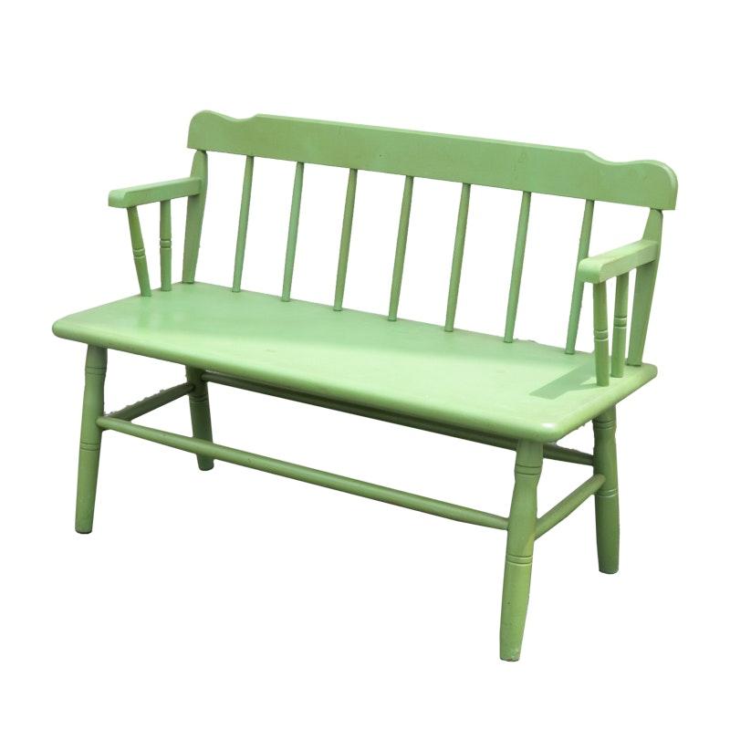 Green Wood Bench