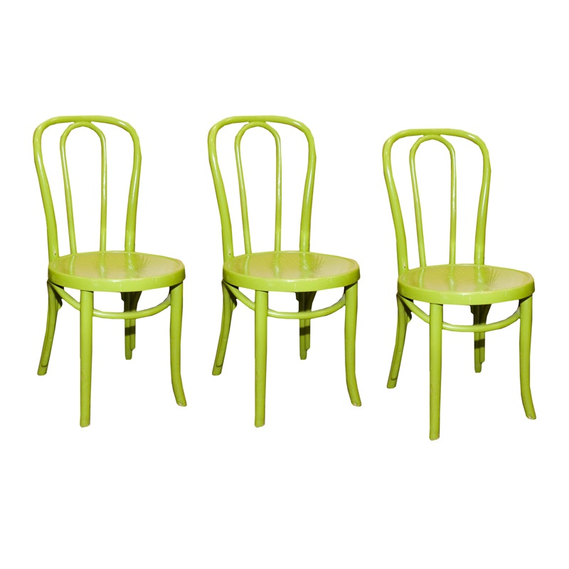 Pear Green Painted Bentwood Chairs ...