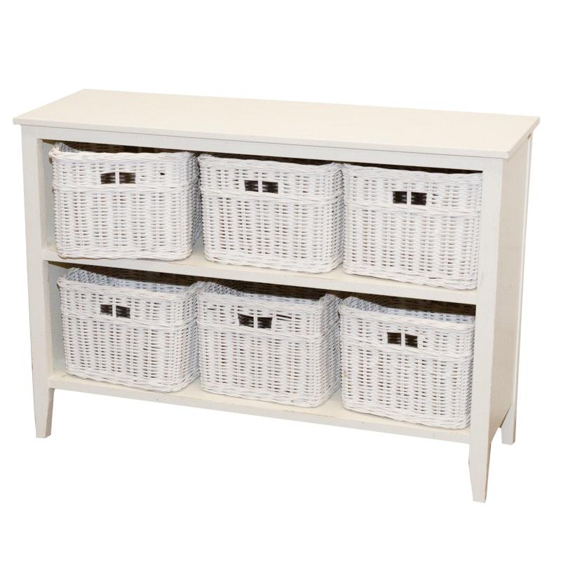 White Shelf with Baskets