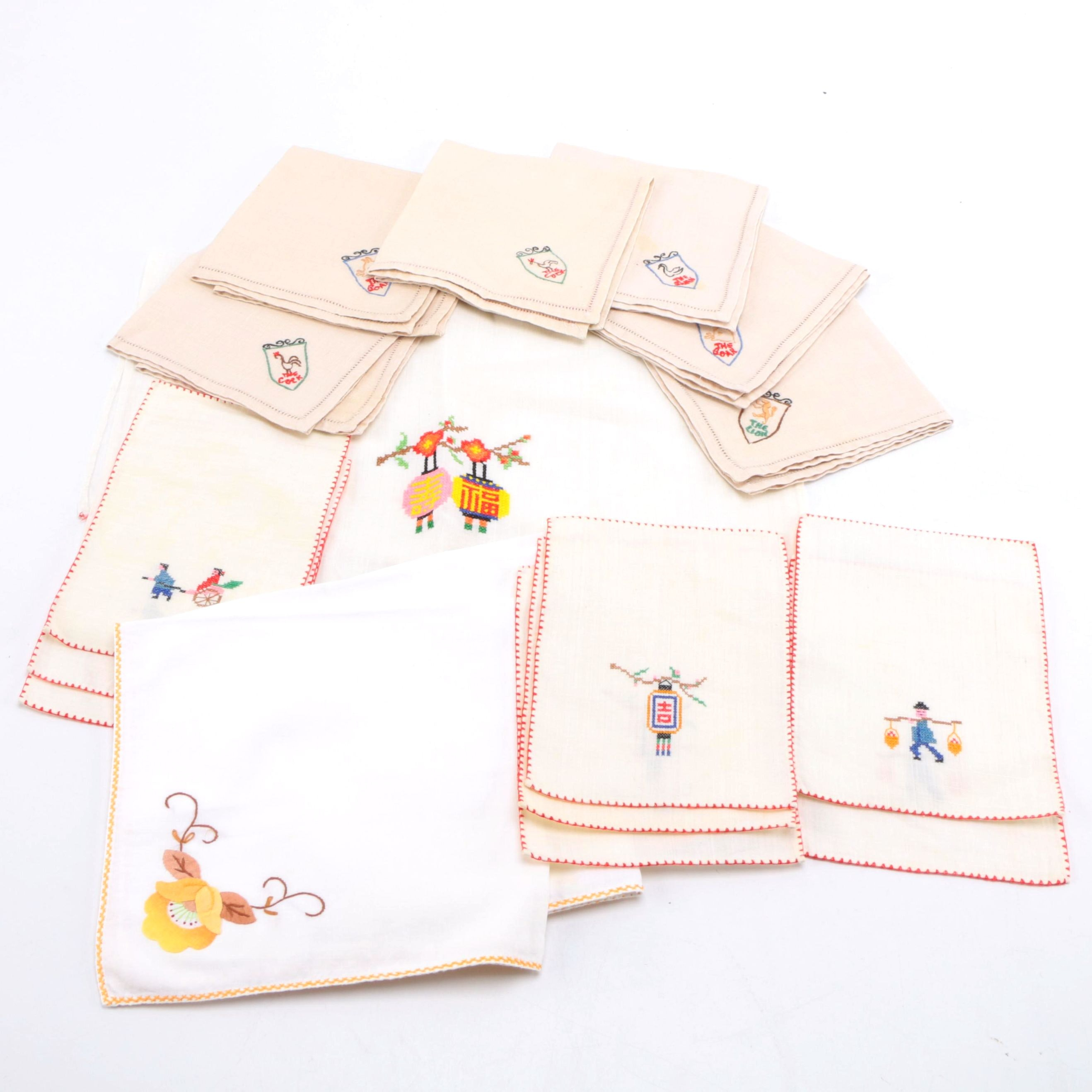Chinese Zodiac Embroidered Table Linens