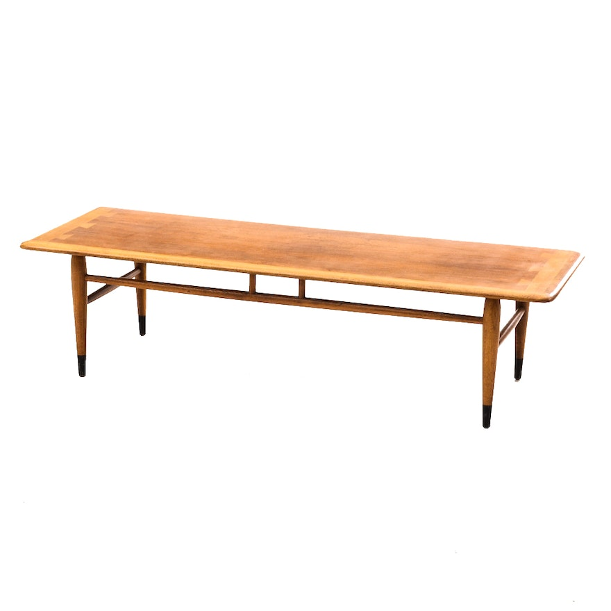 Mid century modern walnut coffee table by lane ebth for Mid century modern coffee table