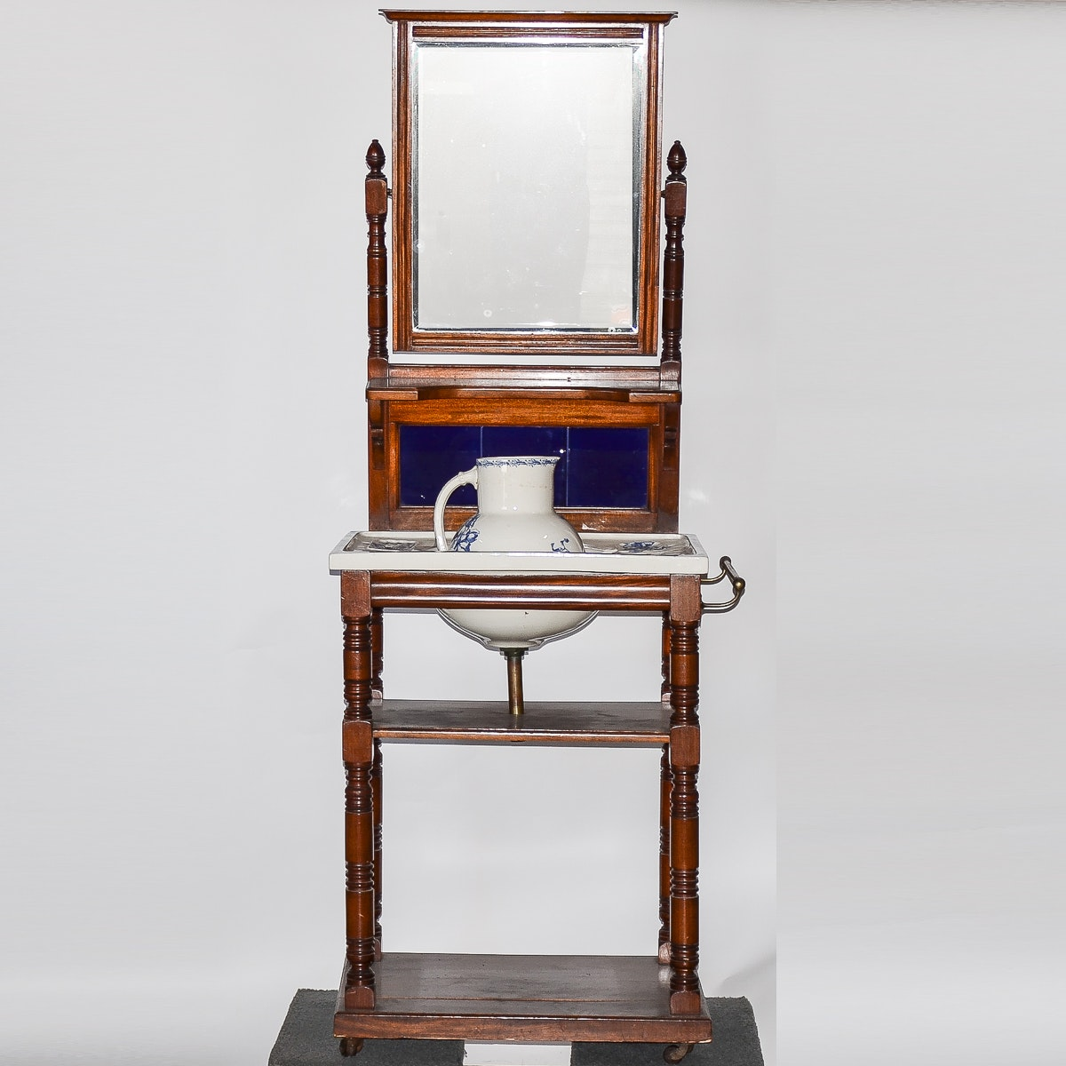 Victorian Eastlake Style Dry Sink with Porcelain Insert