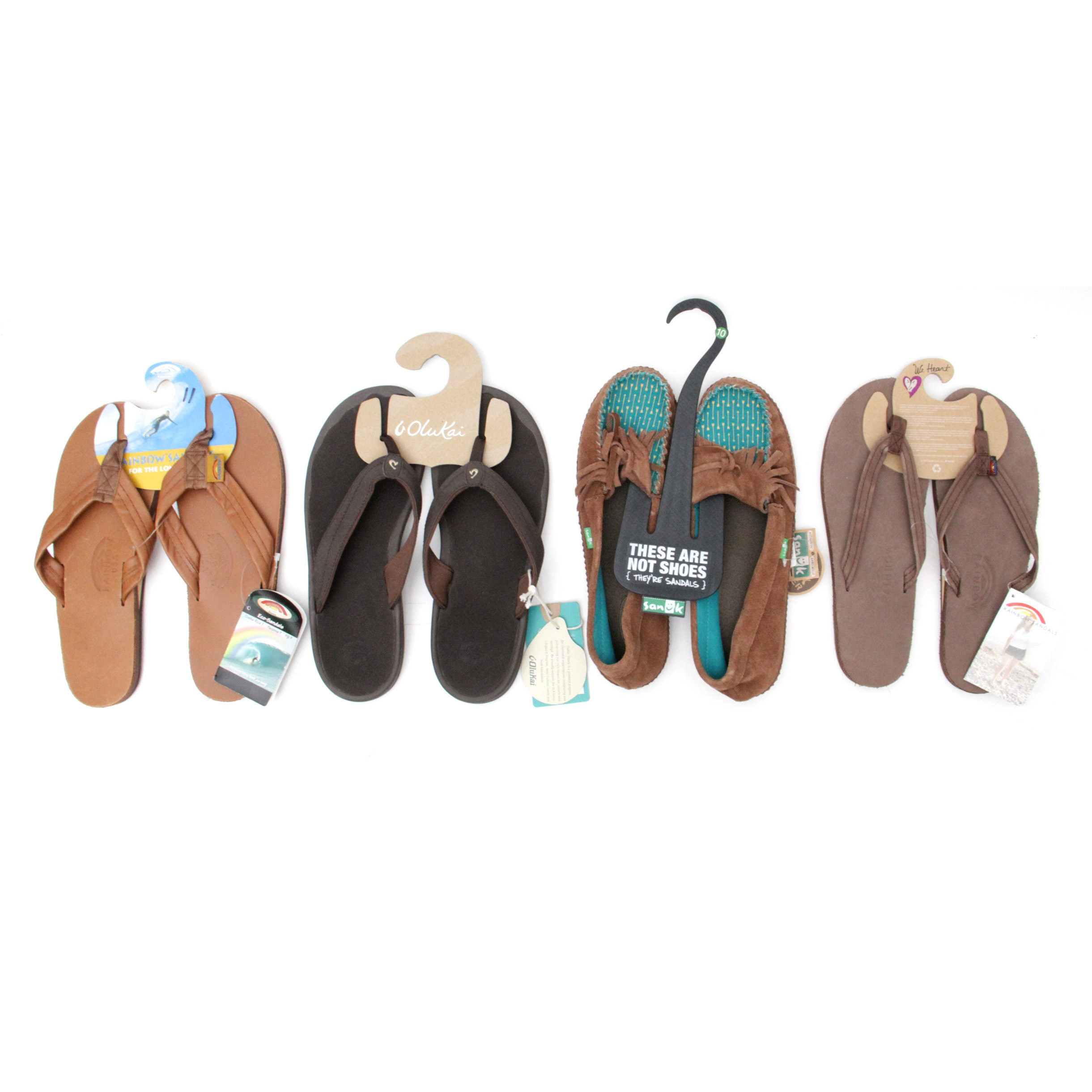 New Women's Flip-Flops and Sandal Shoes Size 10