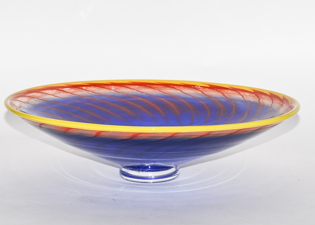 "Red Hill Auto Sales >> Kjell Engman Kosta Boda ""Bon Bon"" Art Glass Centerpiece Bowl : EBTH"