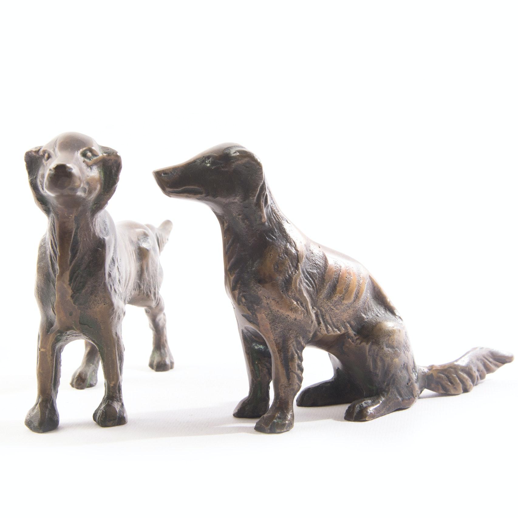 Bronze Dog Sculptures