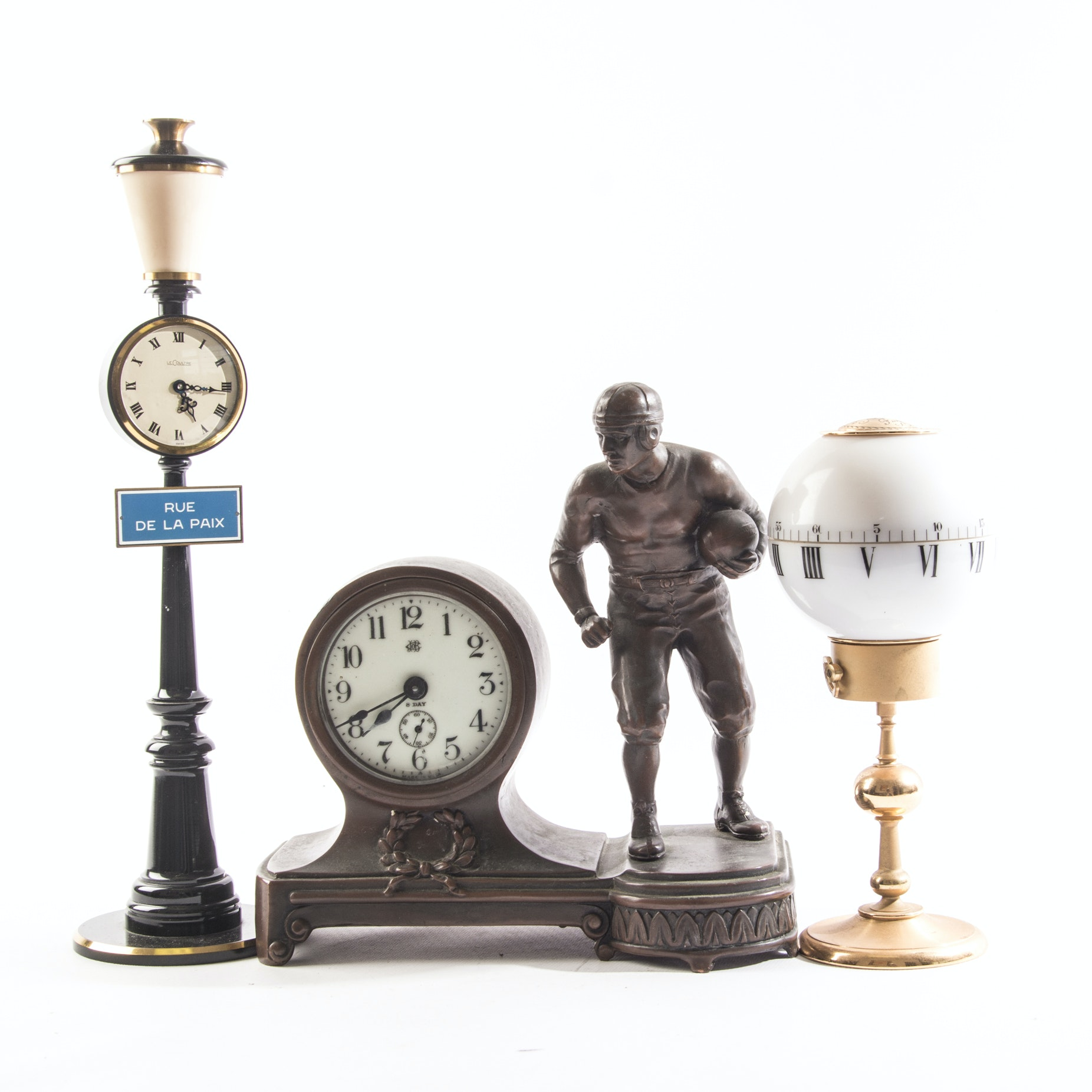 Vintage Desk Clocks featuring LeCoultre Lamp Post Clock