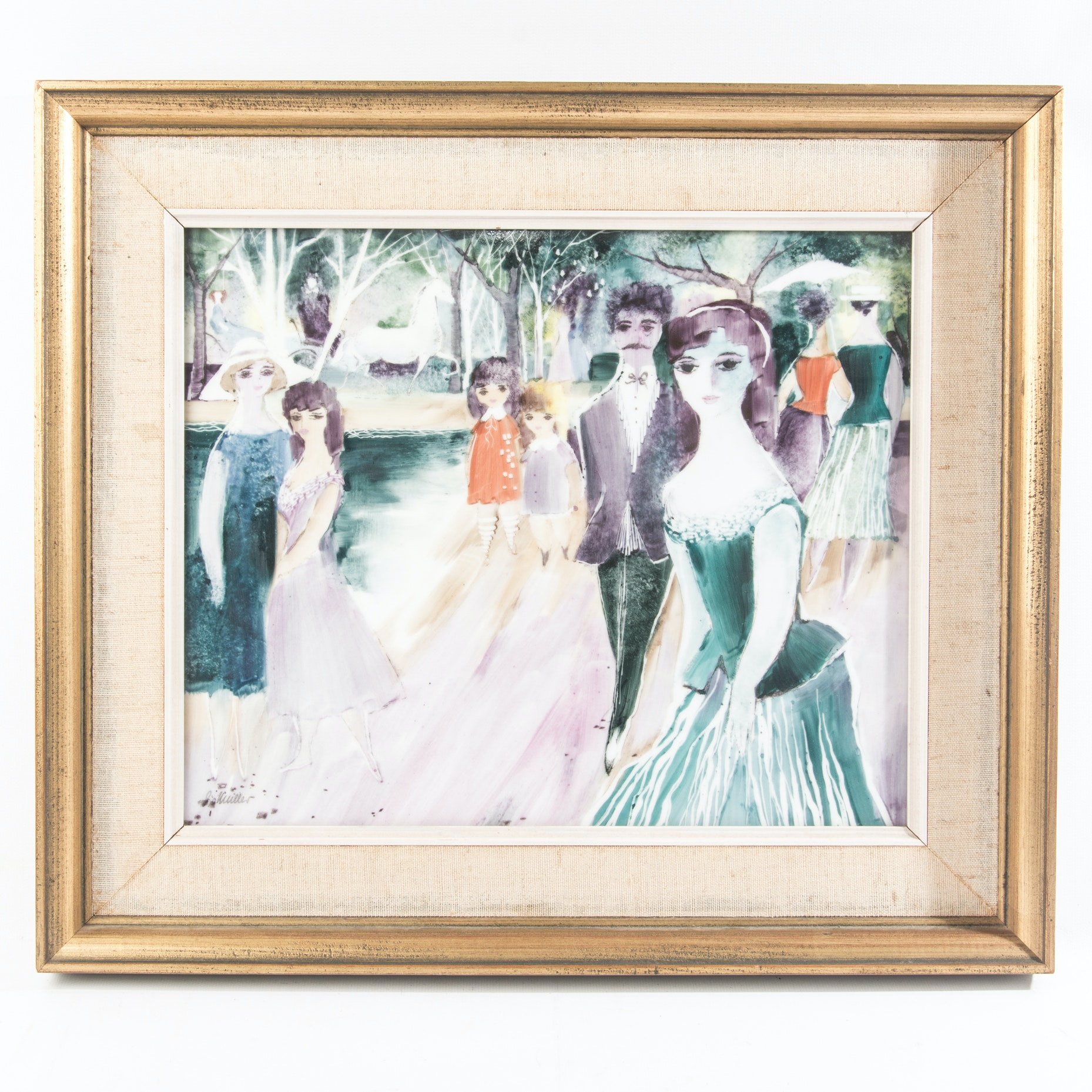"Acrylic on Tile ""Charming Paris"""