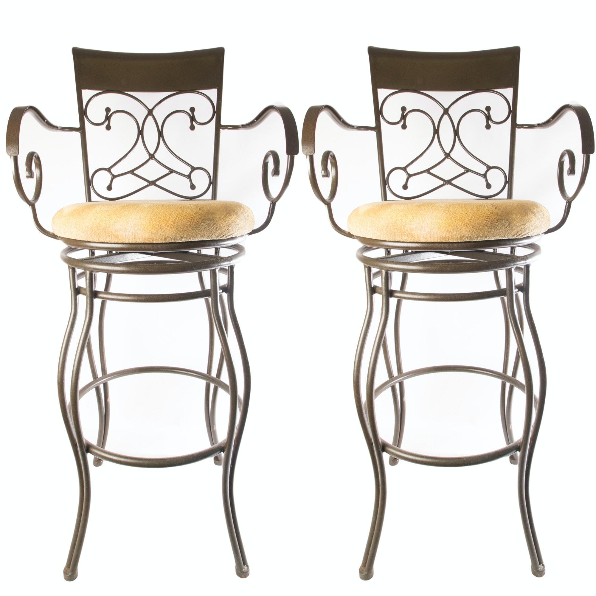 Metal Swivel Bar Stools by Coaster
