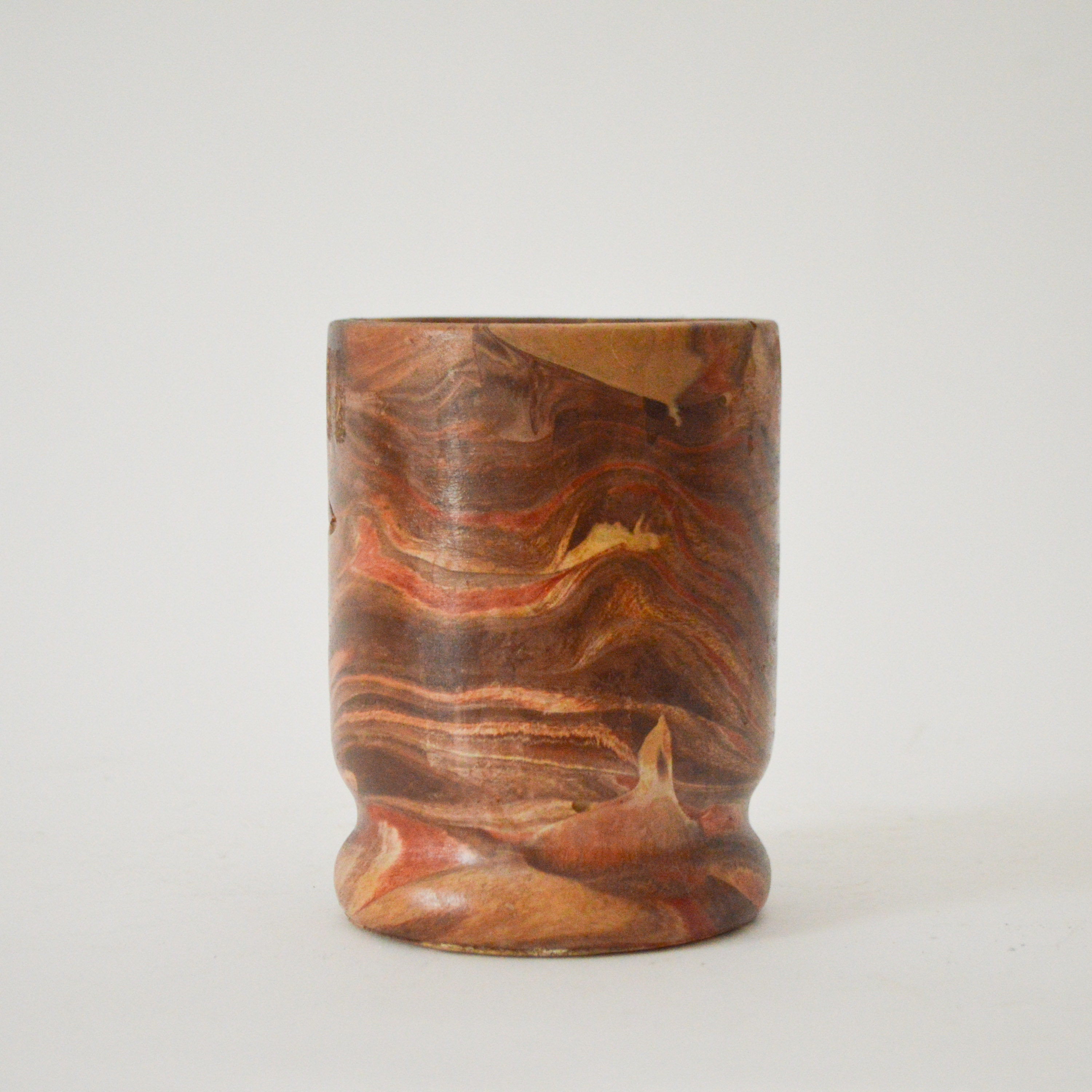 Vintage Native American-Style Art Pottery Cup