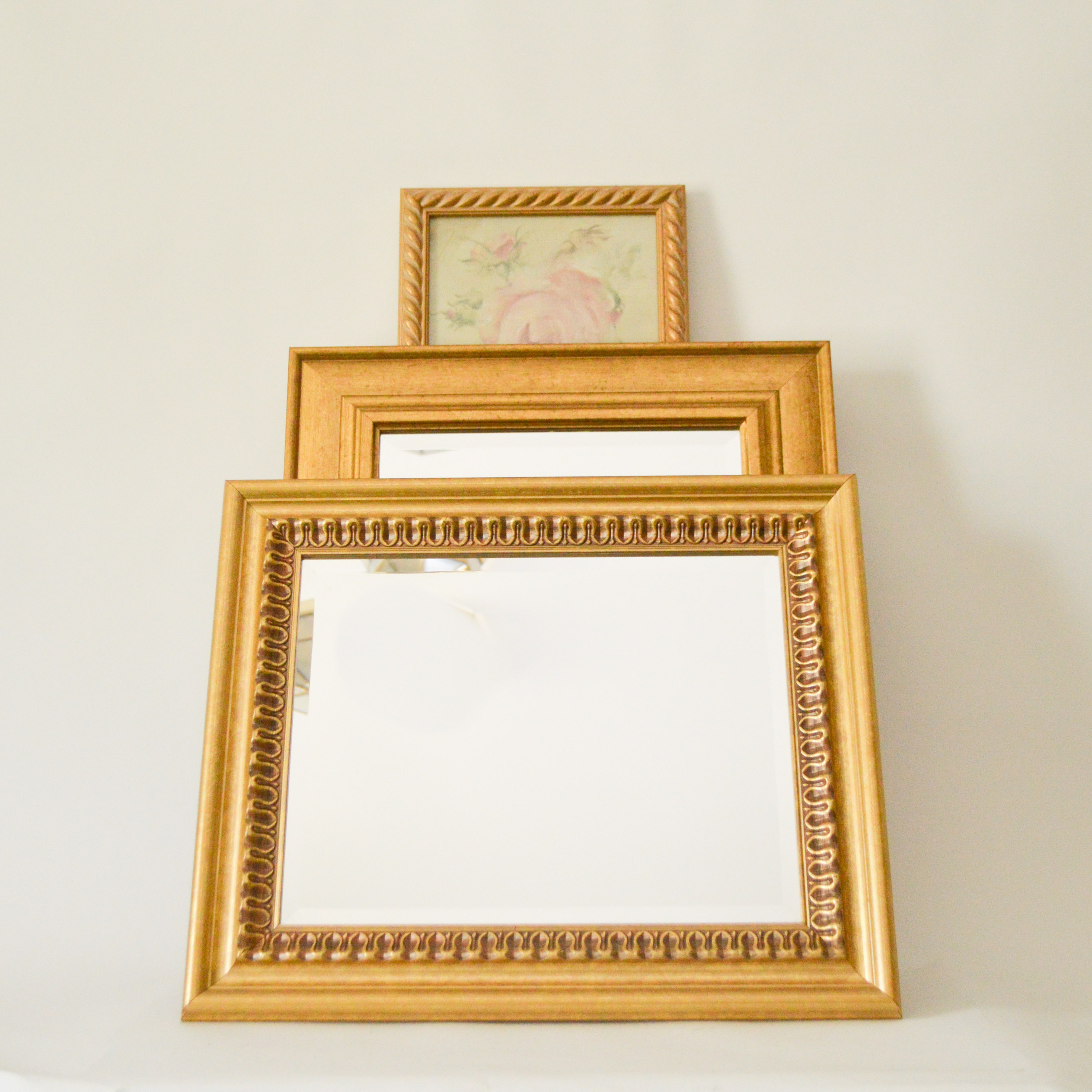 Gold Tone Framed Wall Mirrors