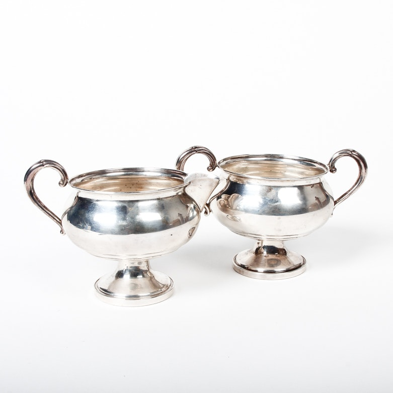 Fisher Weighted Sterling Silver Cream and Sugar Set