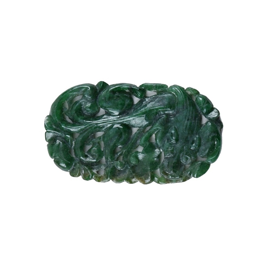 Chinese Dyed Jadeite Carving