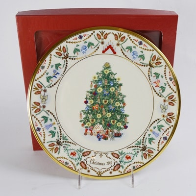 Lenox 2000 Sweden Christmas Trees Around The World Collector Plate
