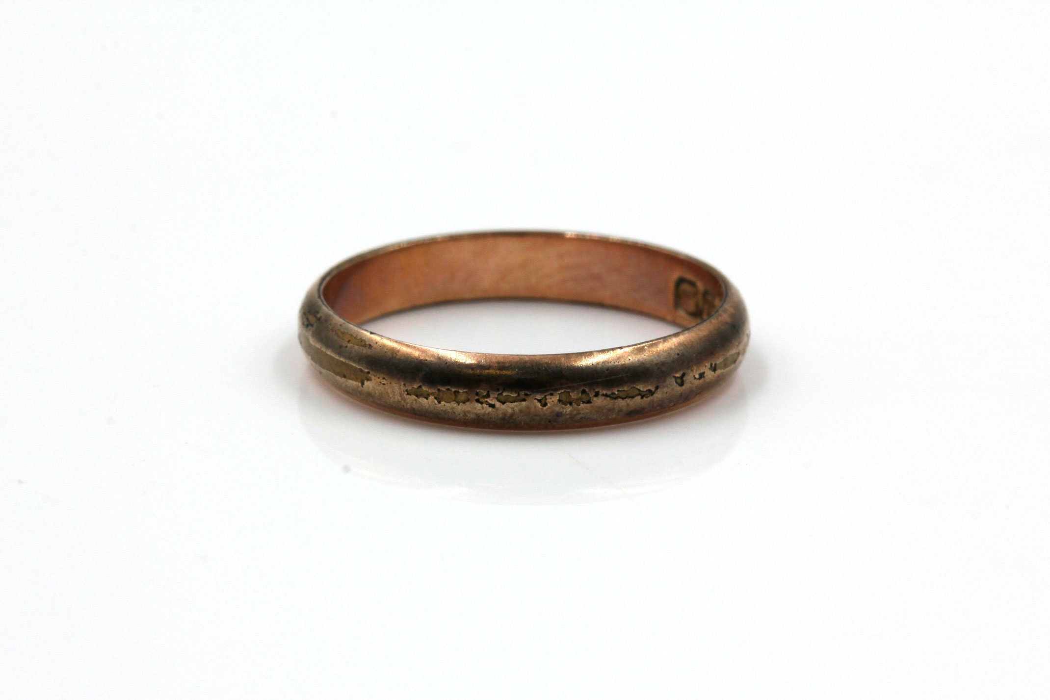 Antique 18K Yellow Gold Plate Band
