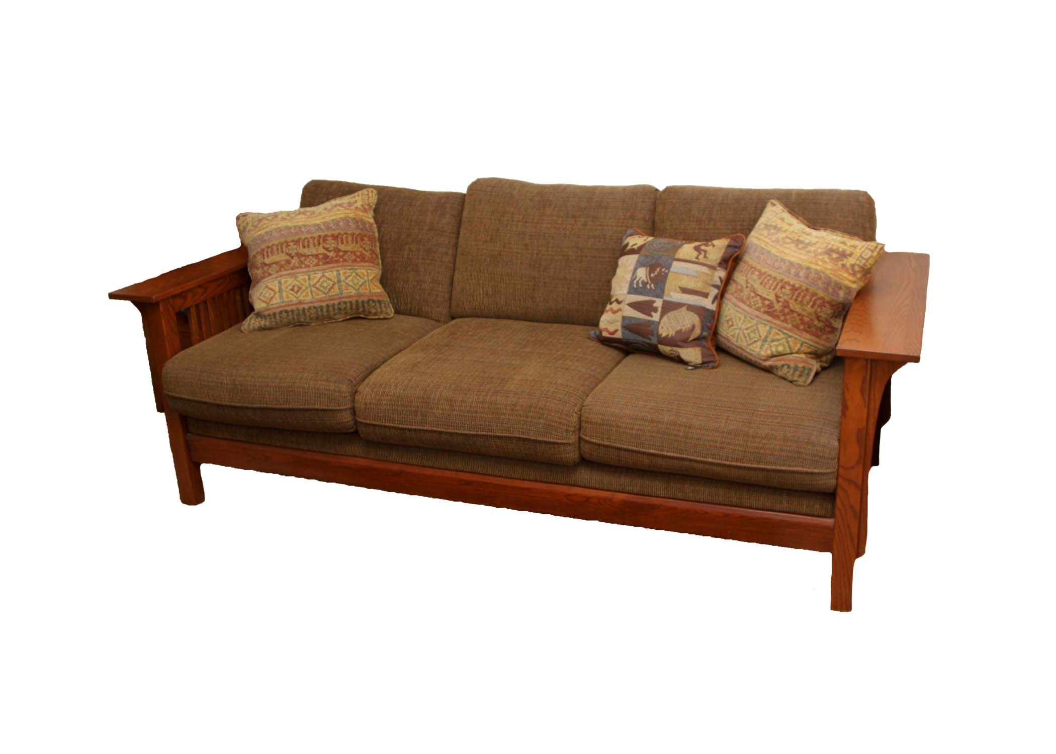 Mission Style Couch By Bassett ...