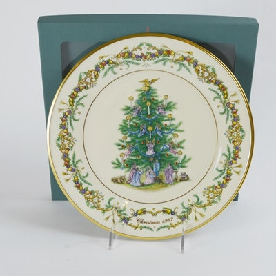 Lenox 1997 Italy Christmas Trees Around The World Collector Plate