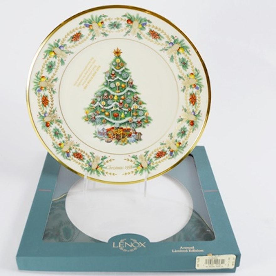 Lenox 1998 America Christmas Trees Around The World Collector Plate