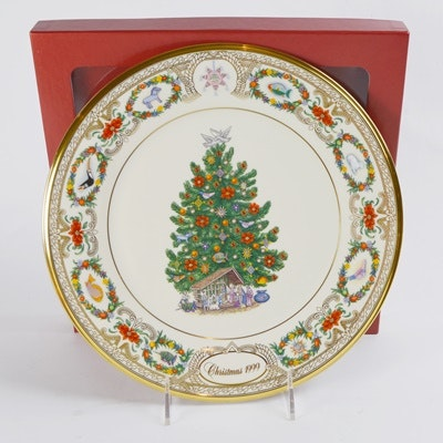 Lenox 1999 Mexico Christmas Trees Around The World Collector Plate