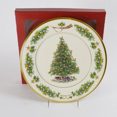 Lenox 2002 The Netherlands Christmas Trees Around The World Collector Plate