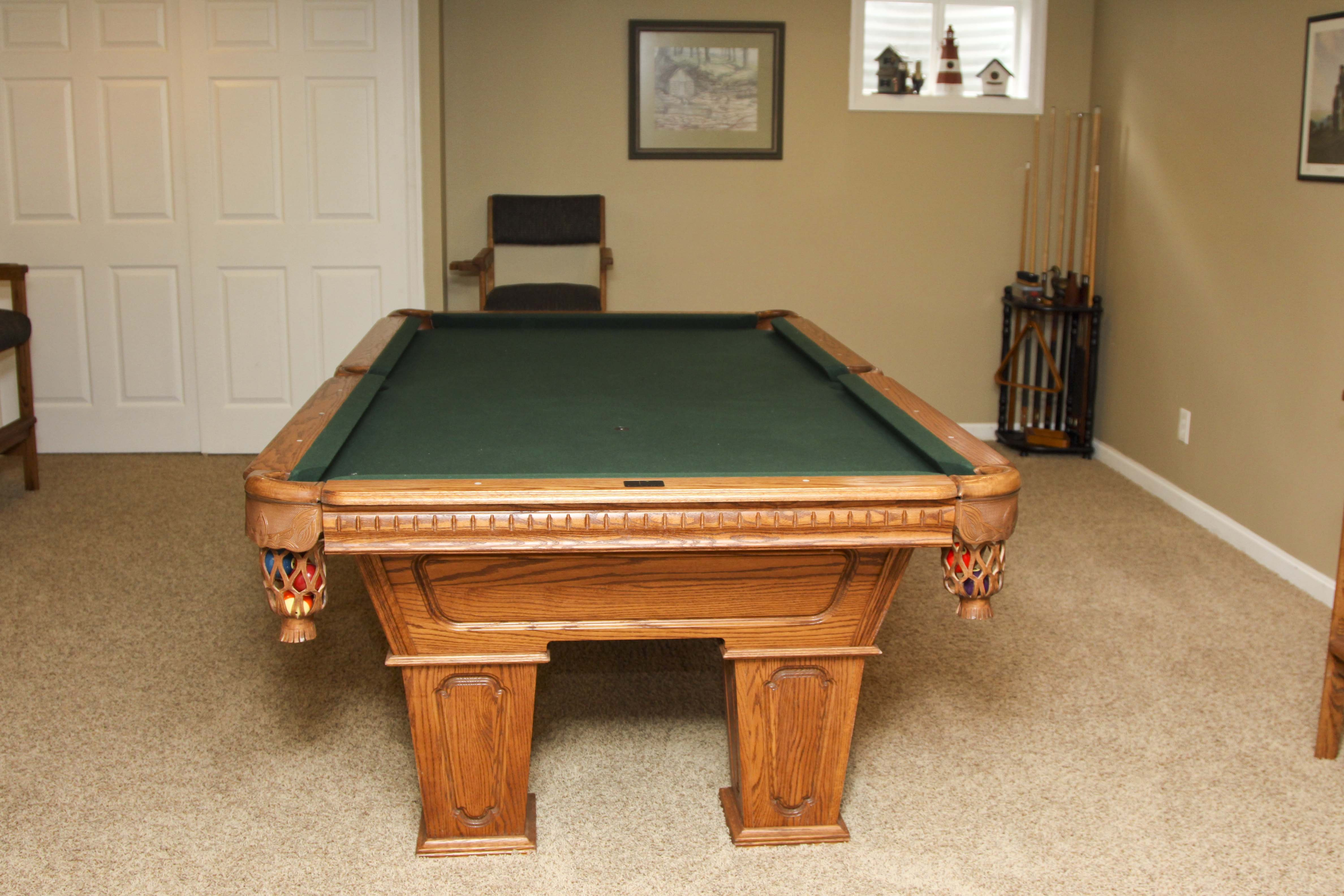 Kasson Oak Billiards Table And Ping Pong Table Top ...