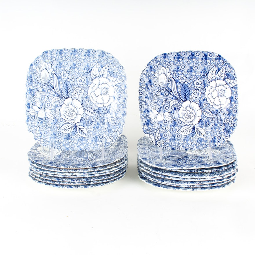 "Set of Tiffany & Co. ""Liberty Blue"" Salad Plates"