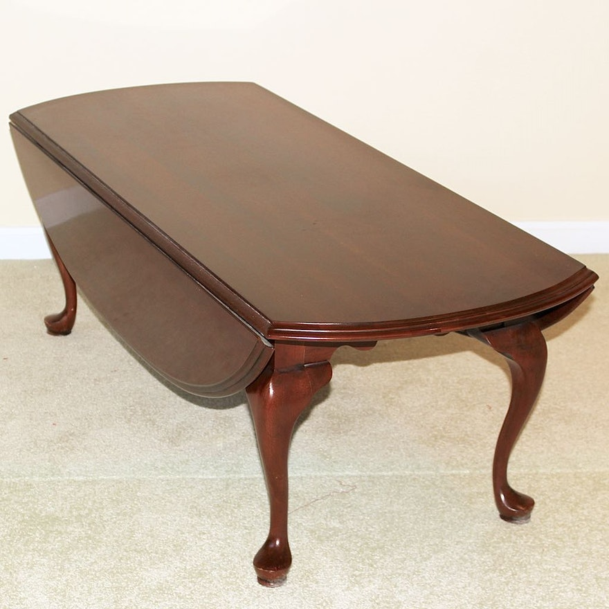 Queen Anne Style Drop Leaf Coffee Table Ebth