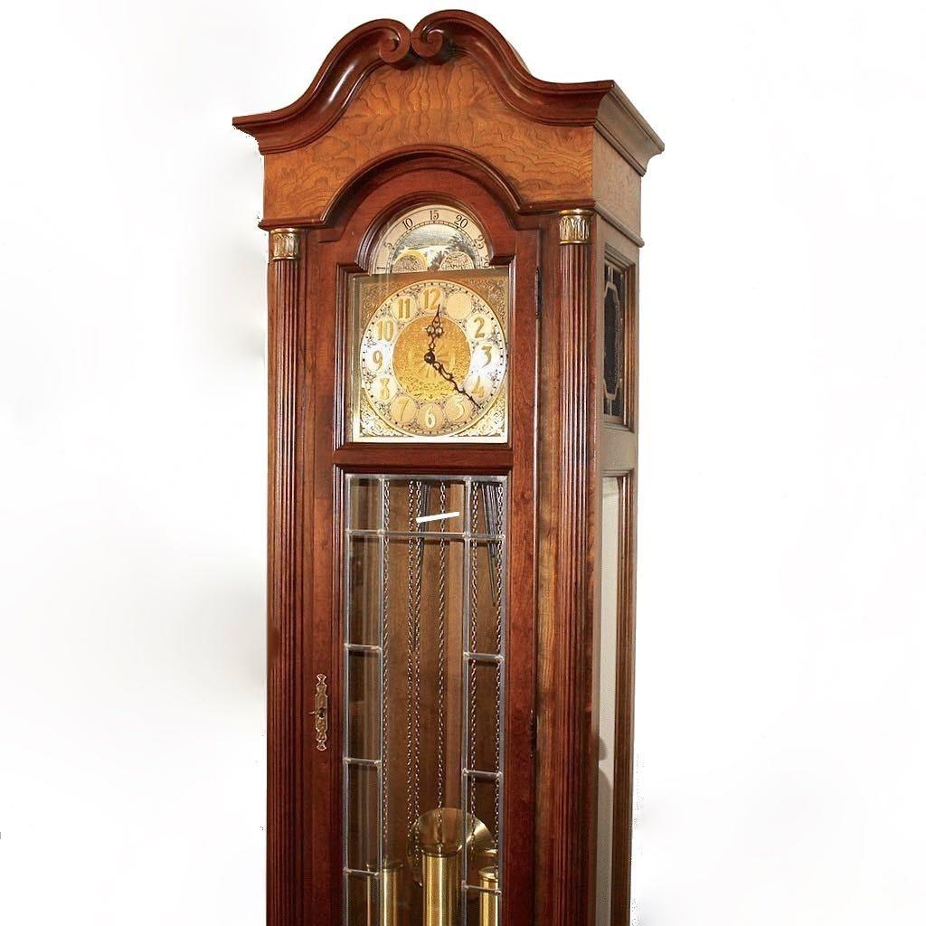 howard miller grandfather clock with moon calendar