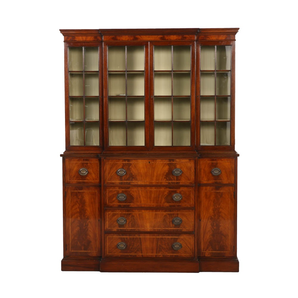 Vintage Breakfront China Cabinet by Williams-Kimp Furniture Co.