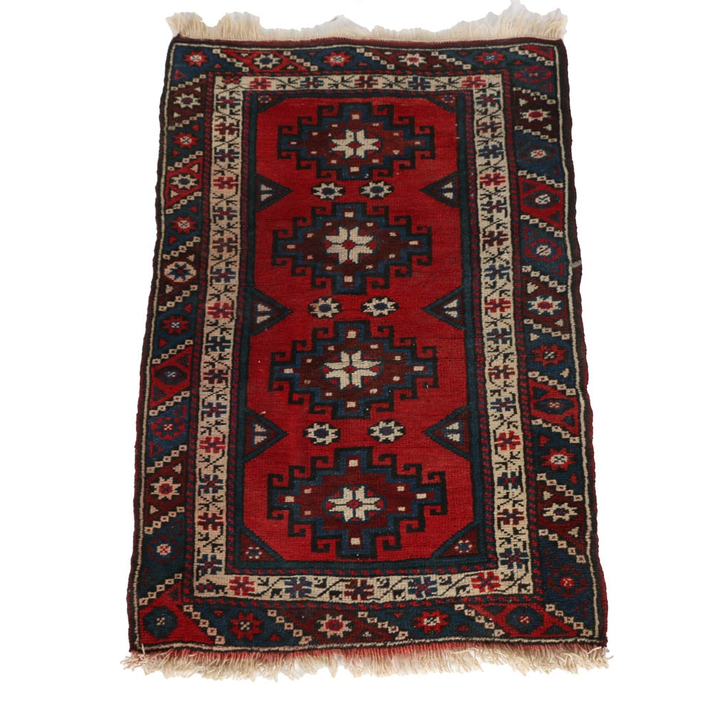 Handwoven Kazak Wool Soumak