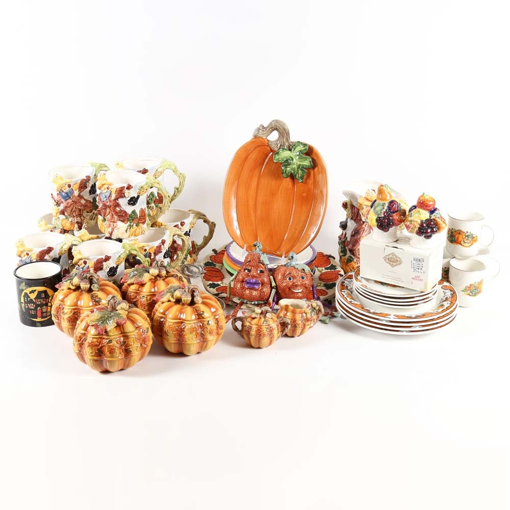 Halloween Themed Tableware and Serving Pieces