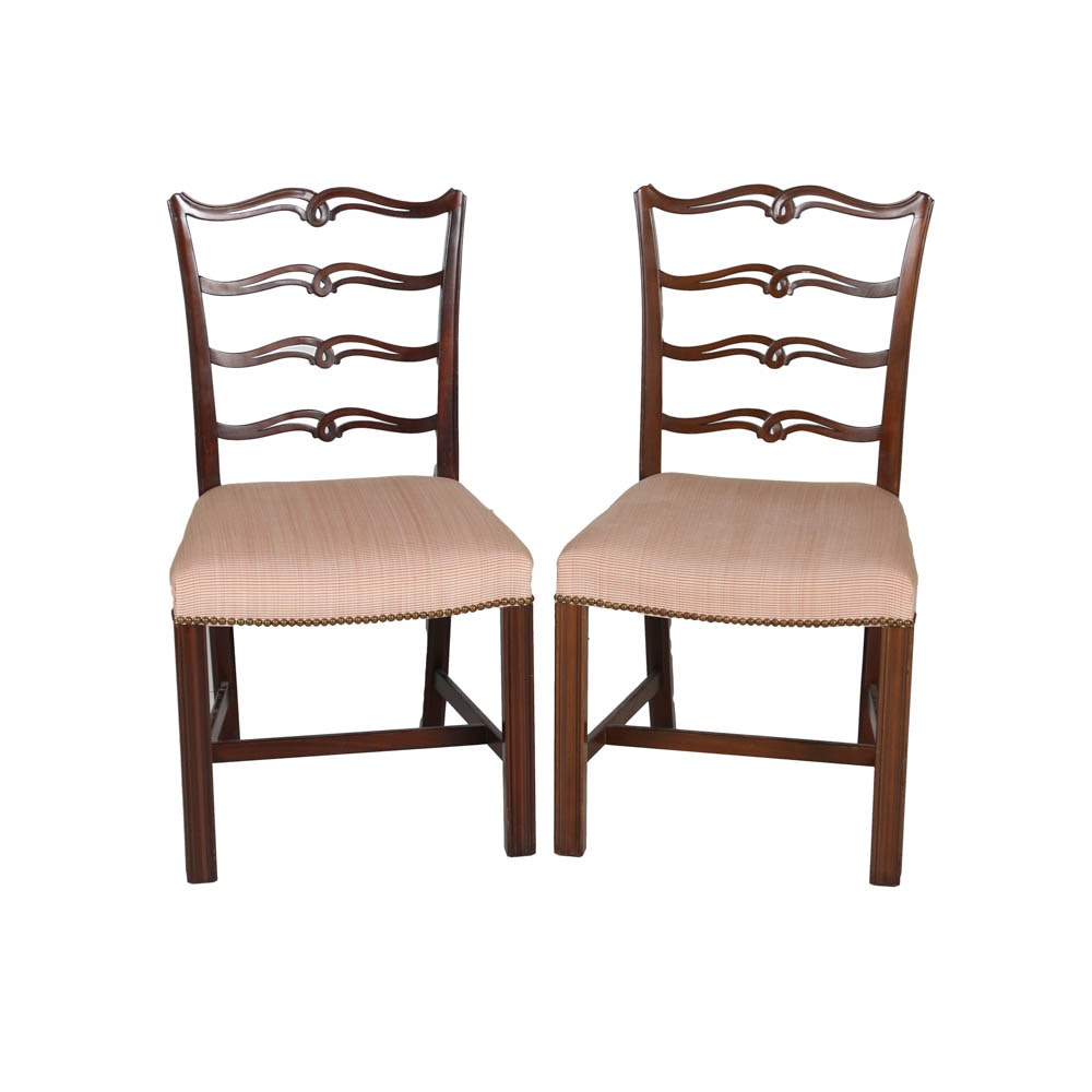 Chippendale Style Ribbon Back Side Chairs