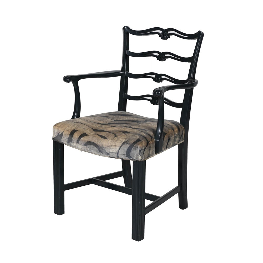 Chippendale Style Ribbon Back Armchair