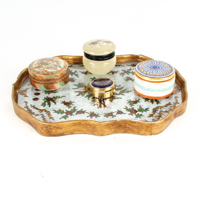 Peruvian Tray and Trinket Boxes