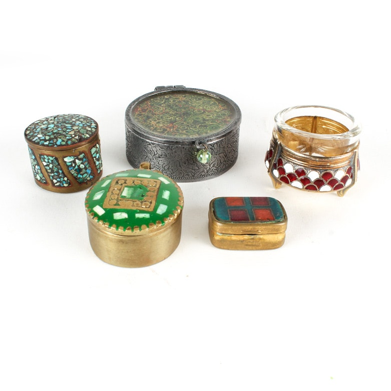 Five Small Trinket Boxes