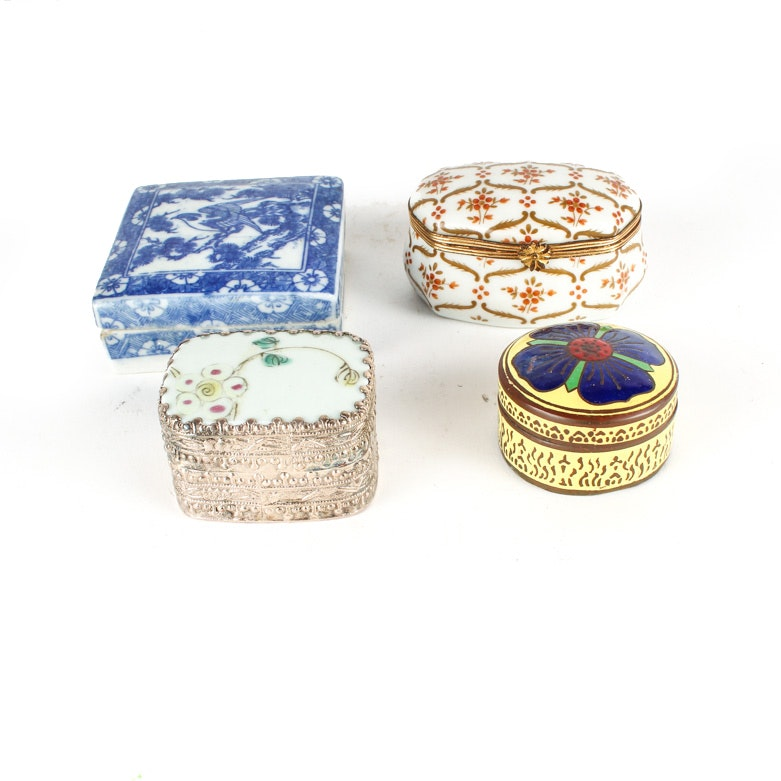 Trinket Boxes Including Limoges