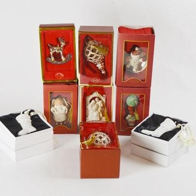 Lenox and Pandora Porcelain Christmas Ornaments
