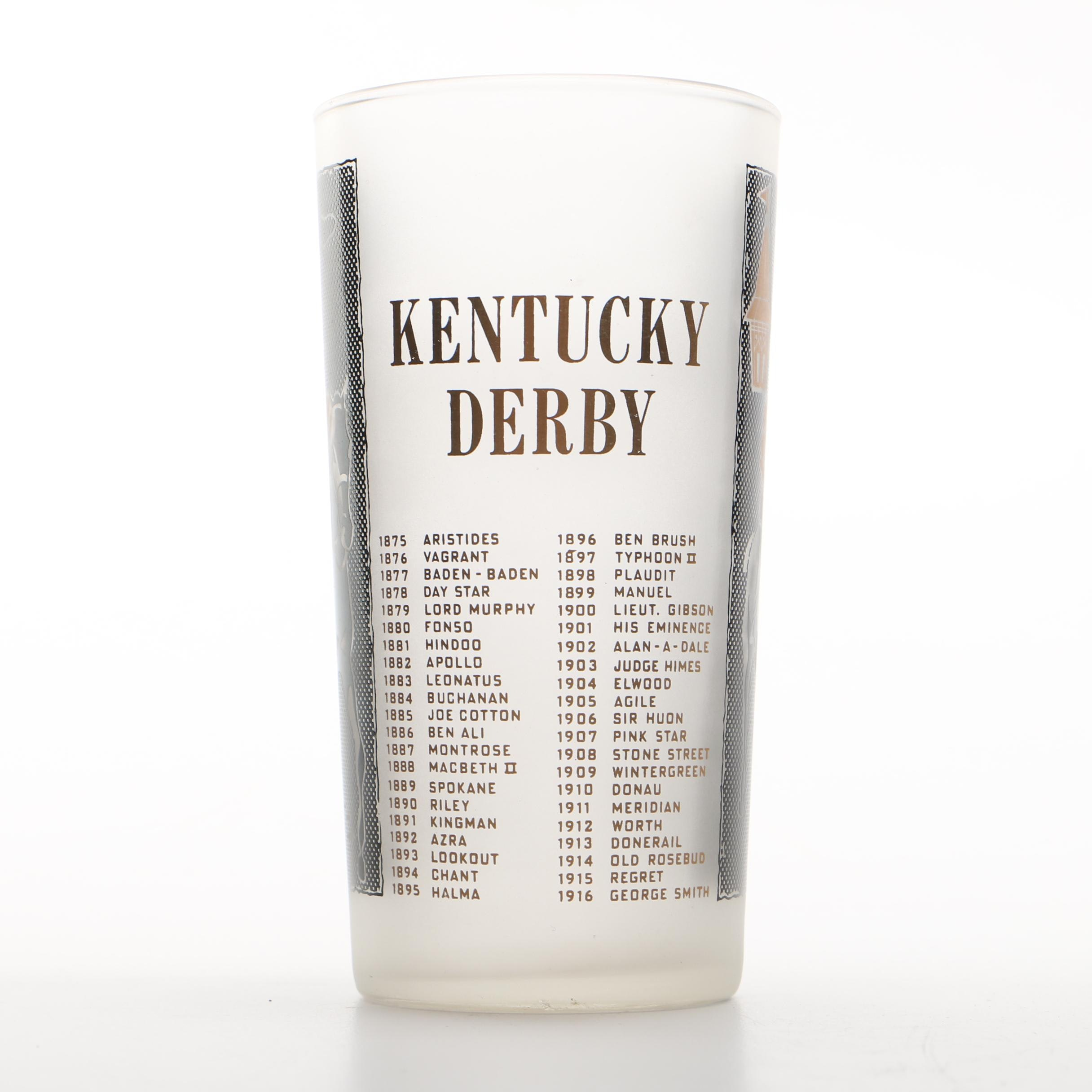 1959 Kentucky Derby Mint Julep Glass