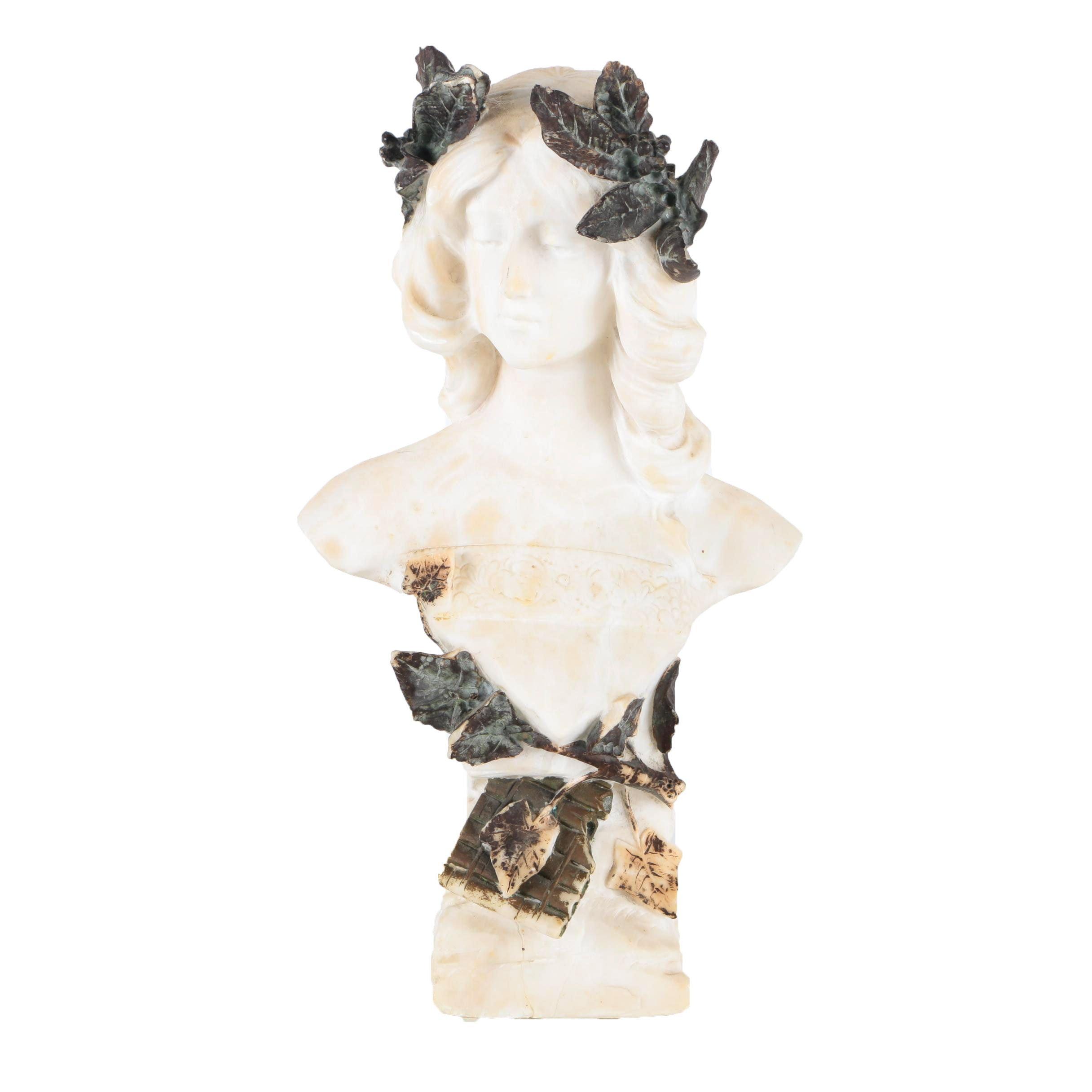 Greek Themed Female Bust
