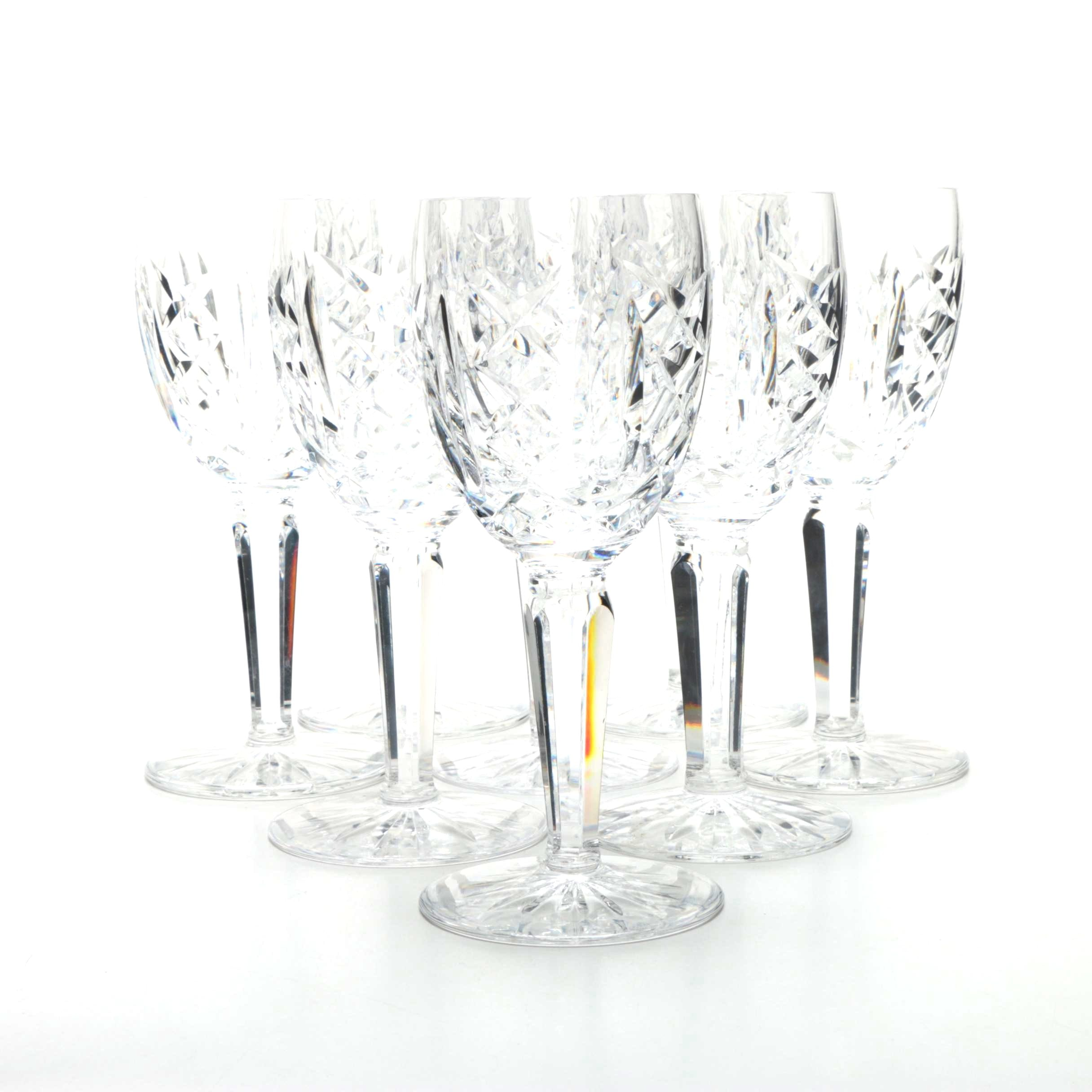 "Waterford Crystal ""Glengarriff"" White Wine Glasses"