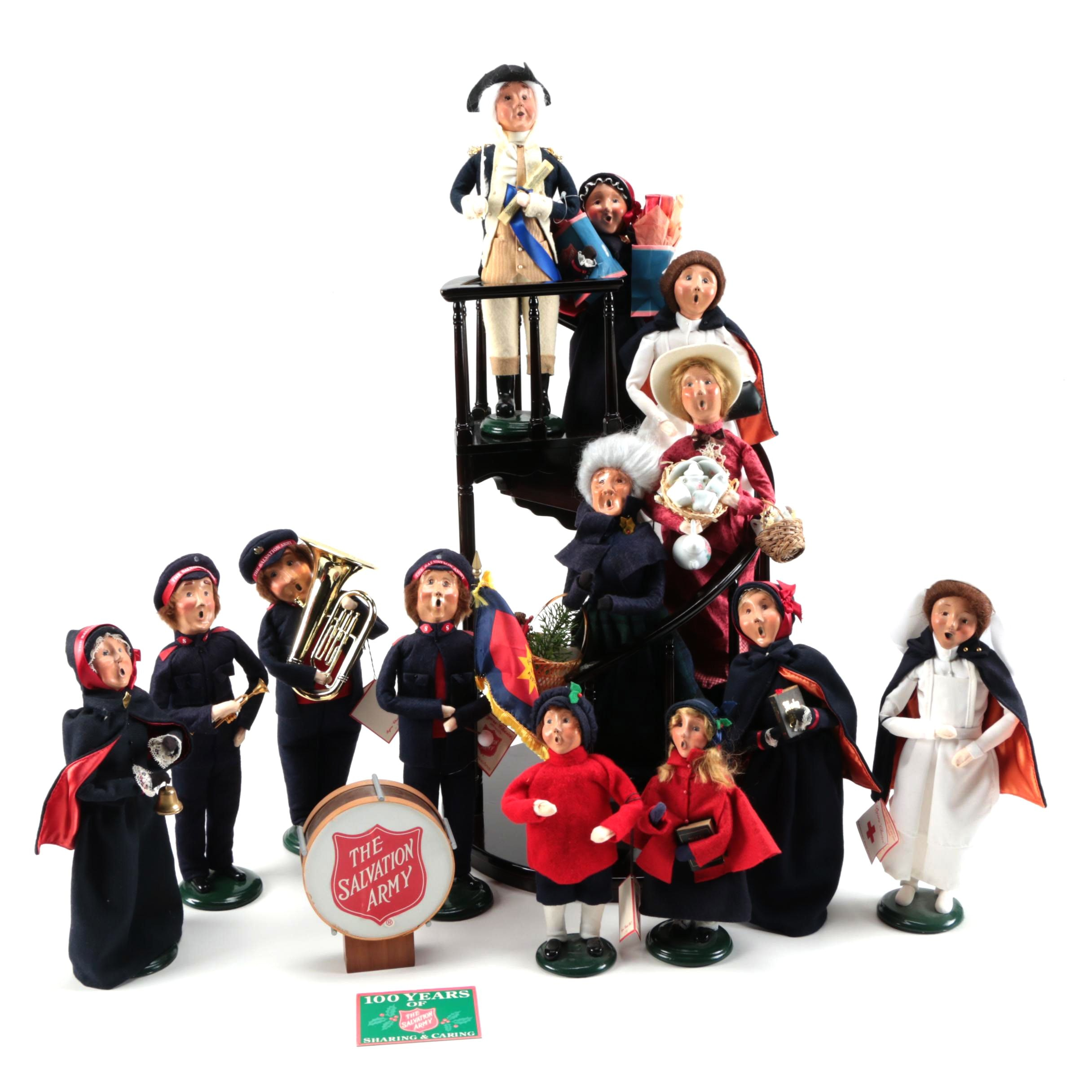 Byers Choice Carolers: Byers' Choice Carolers With Staircase Stand : EBTH