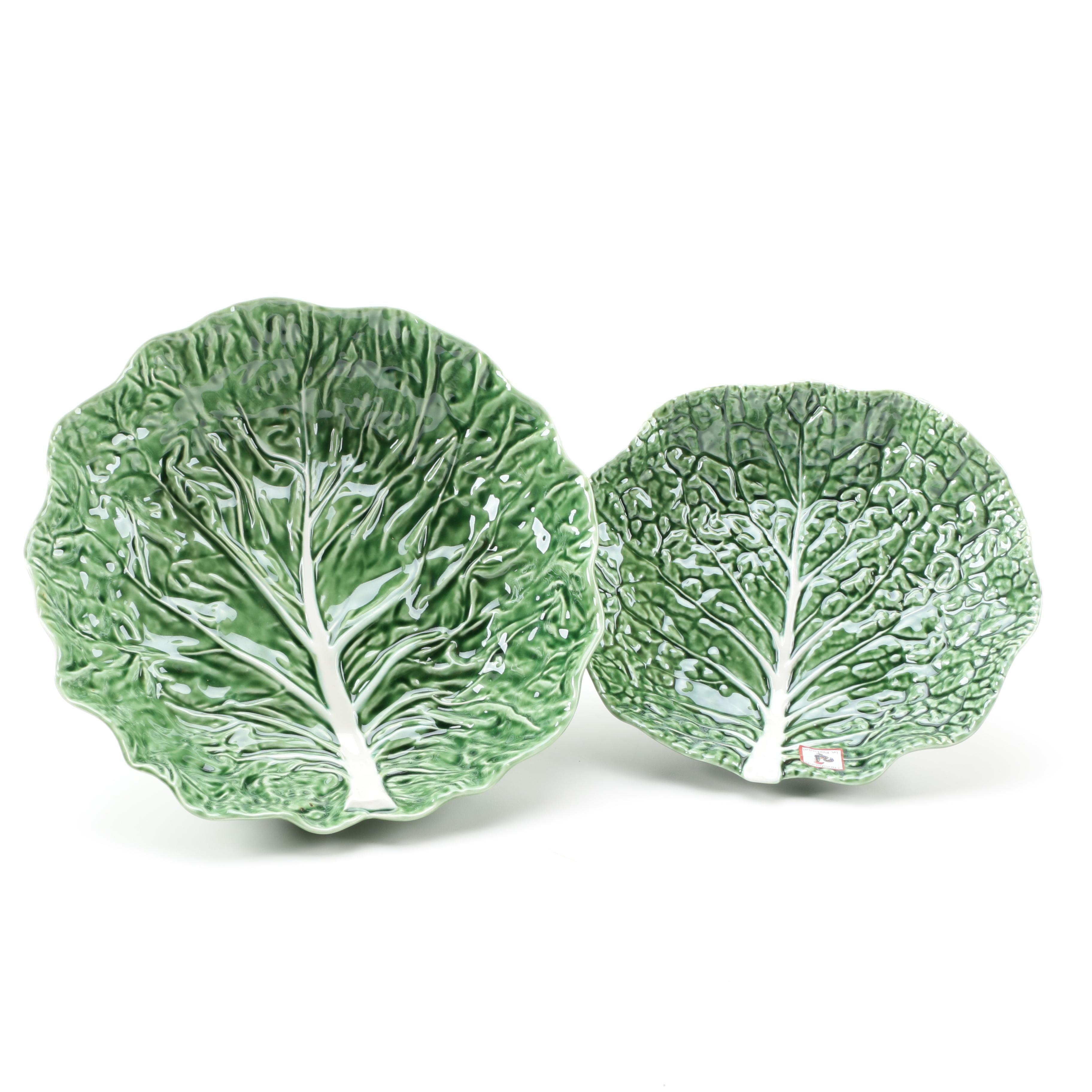 """Bordallo Pinheiro """"Cabbage Green"""" Bowls"""