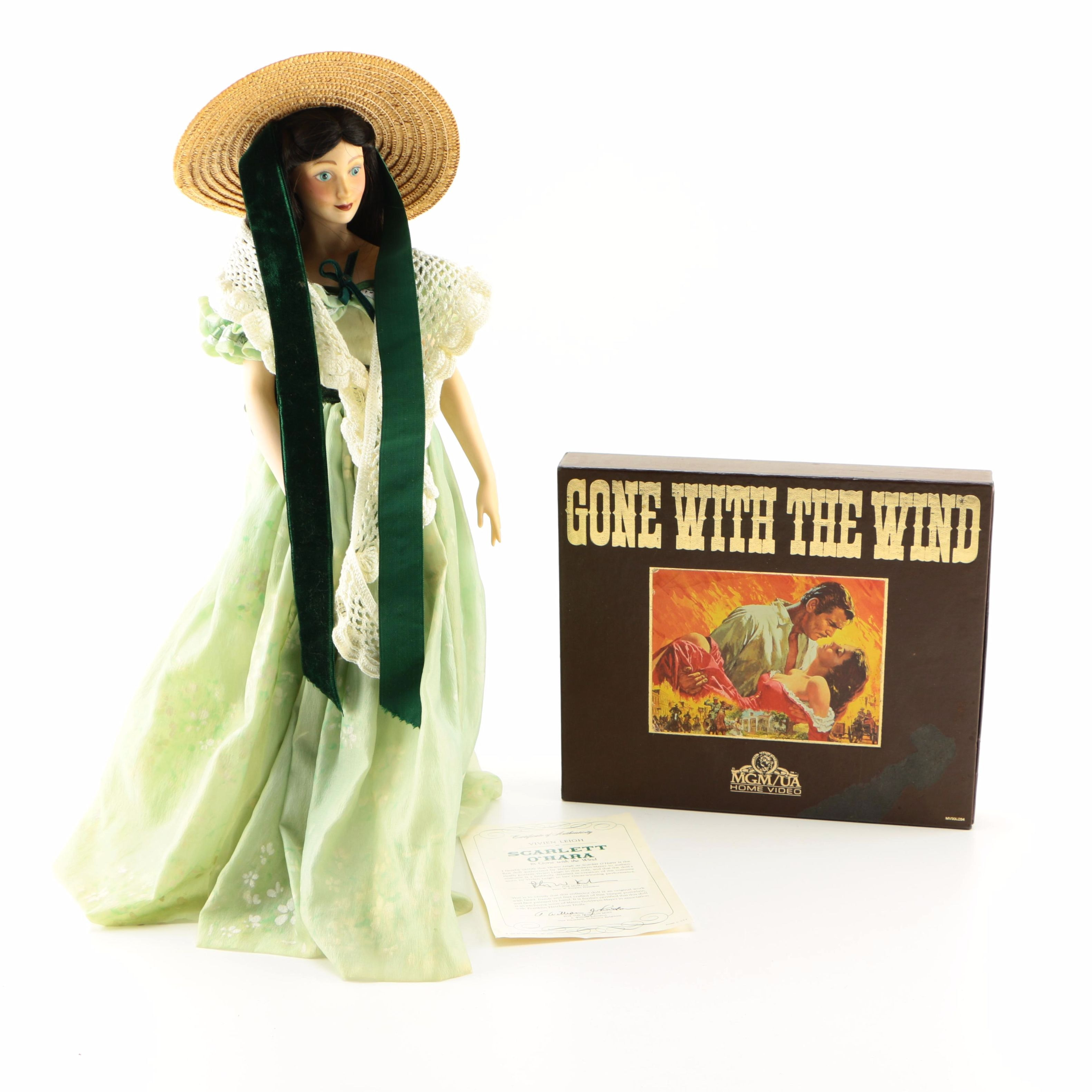 "Scarlett O'Hara Doll and ""Gone With the Wind"" VHS Box Set"