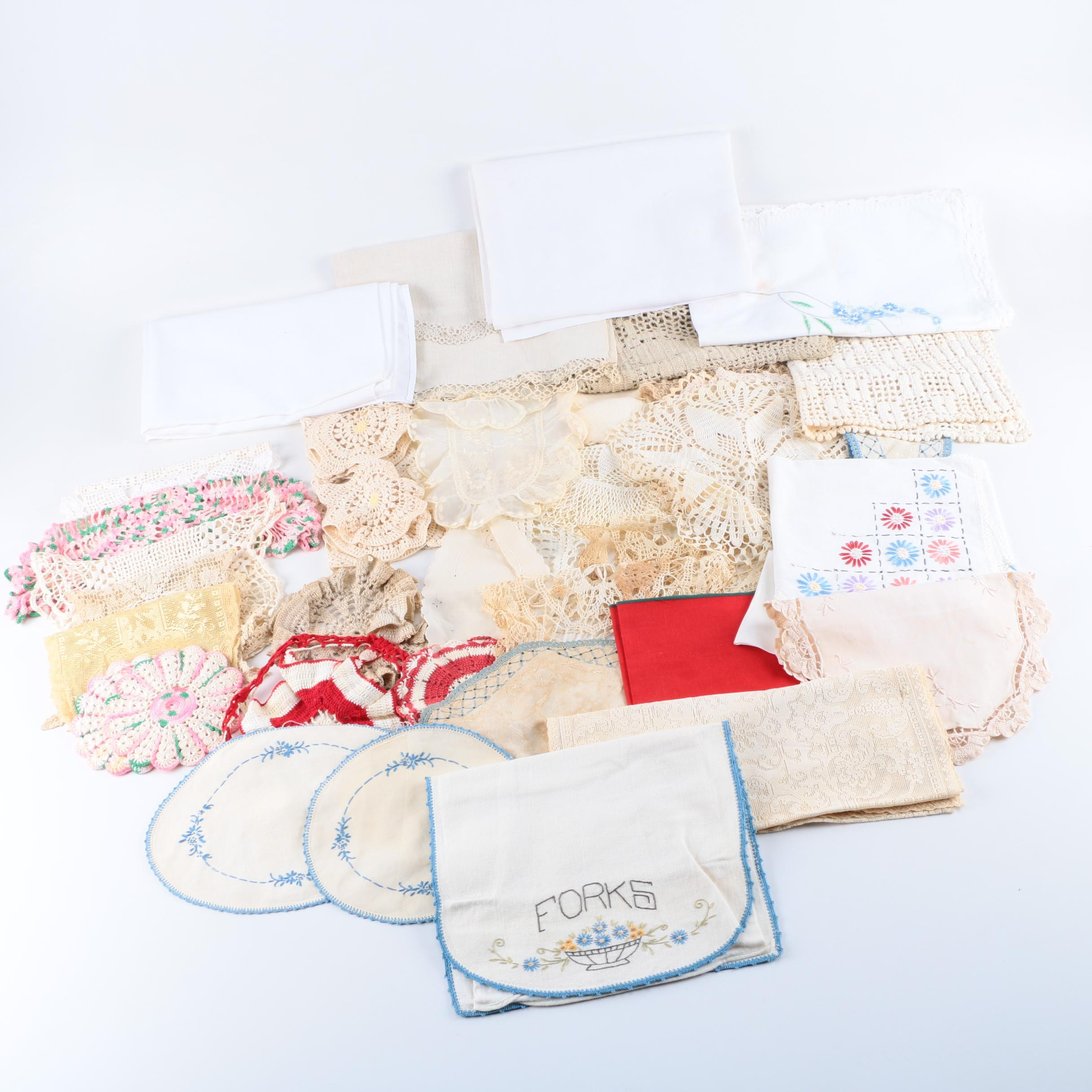 Vintage Kitchen and Table Linens