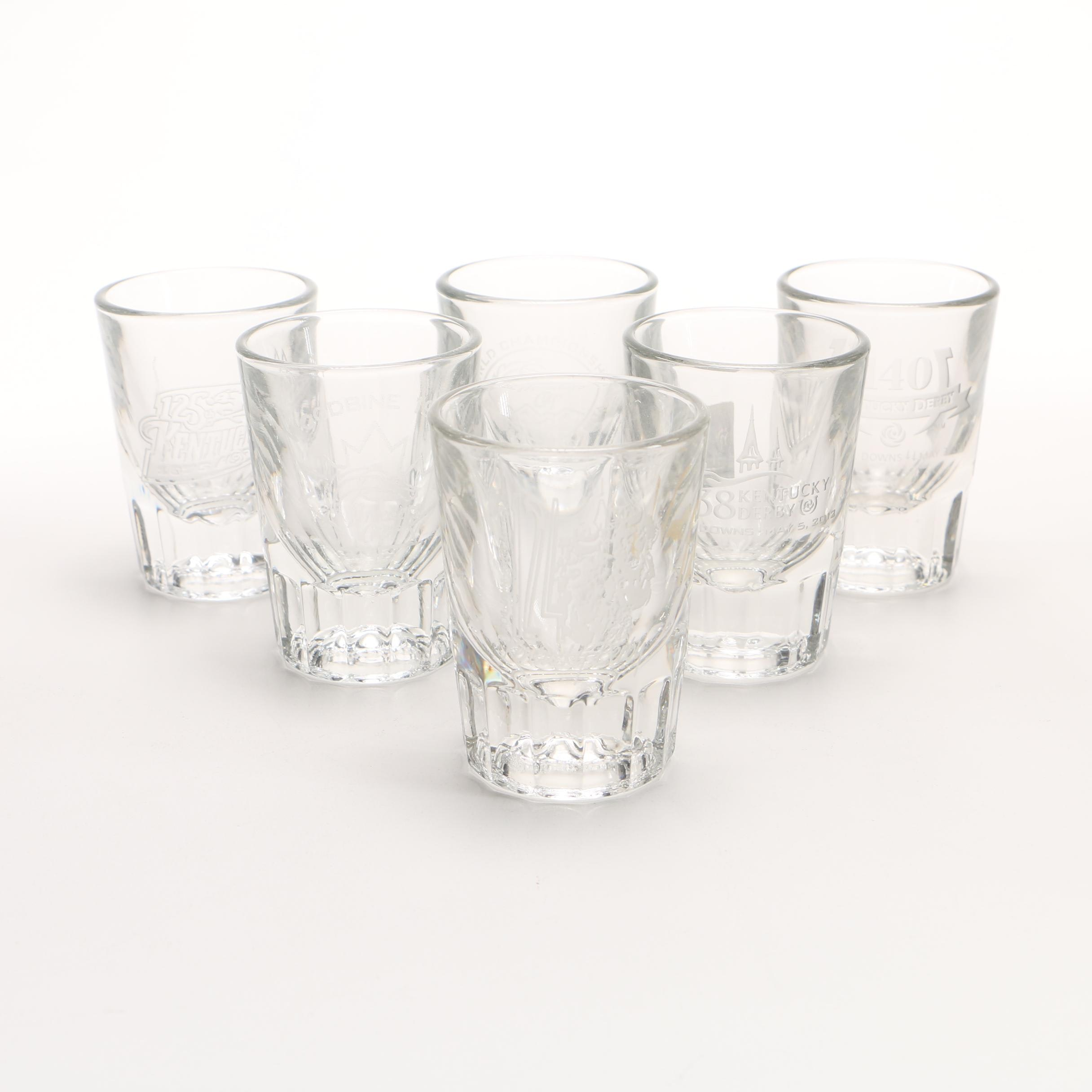 Collection of Kentucky Derby Shot Glasses