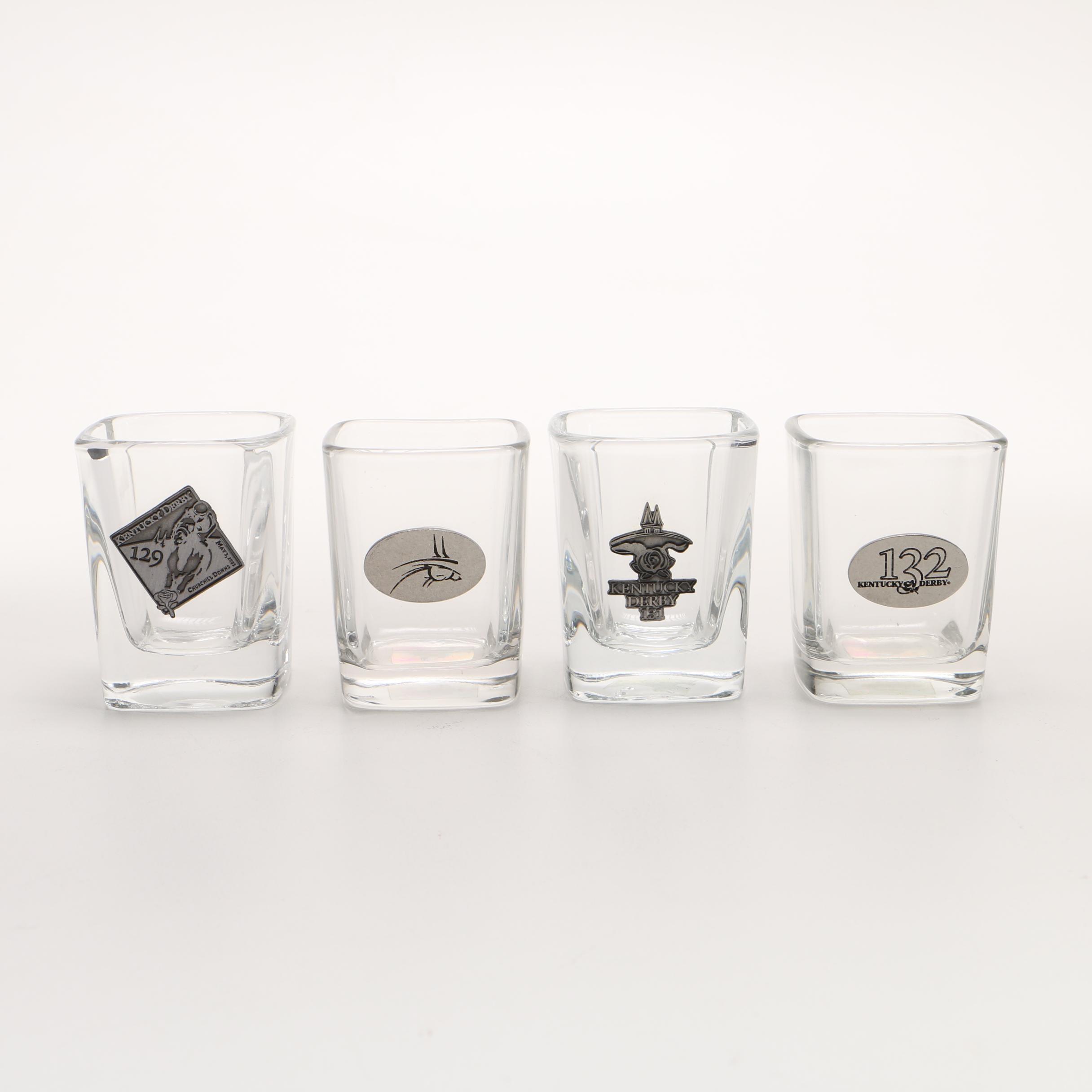 Set Of Four Derby Shot Glasses