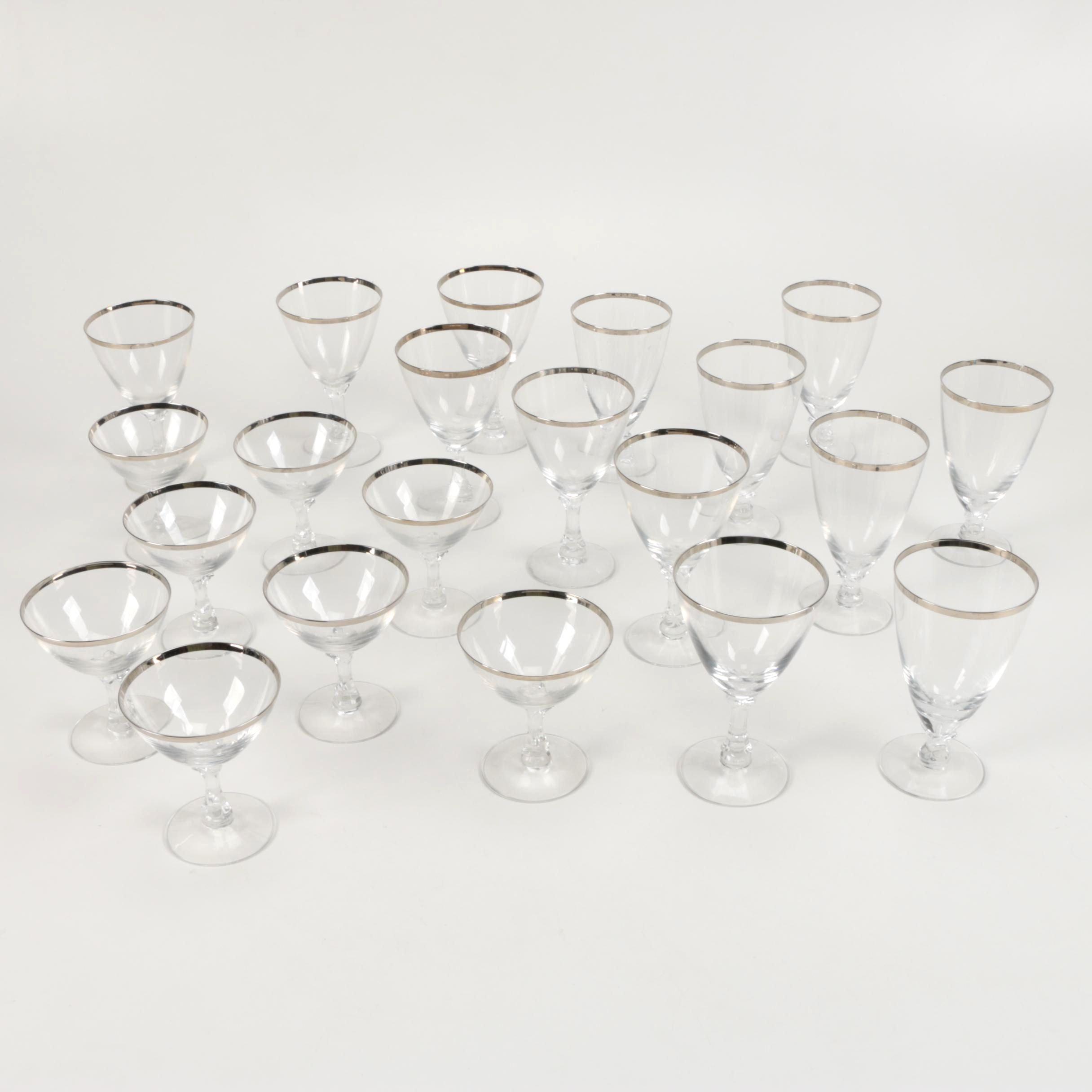 "Fostoria ""Wedding Ring"" Crystal Glasses"