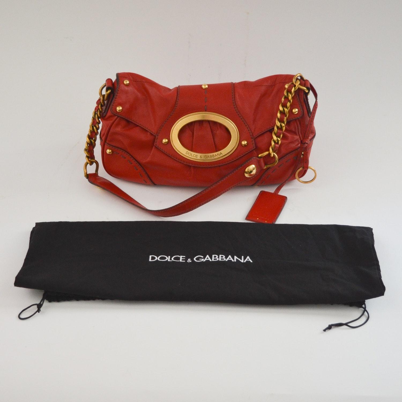 Dolce & Gabbana Red Leather Handbag