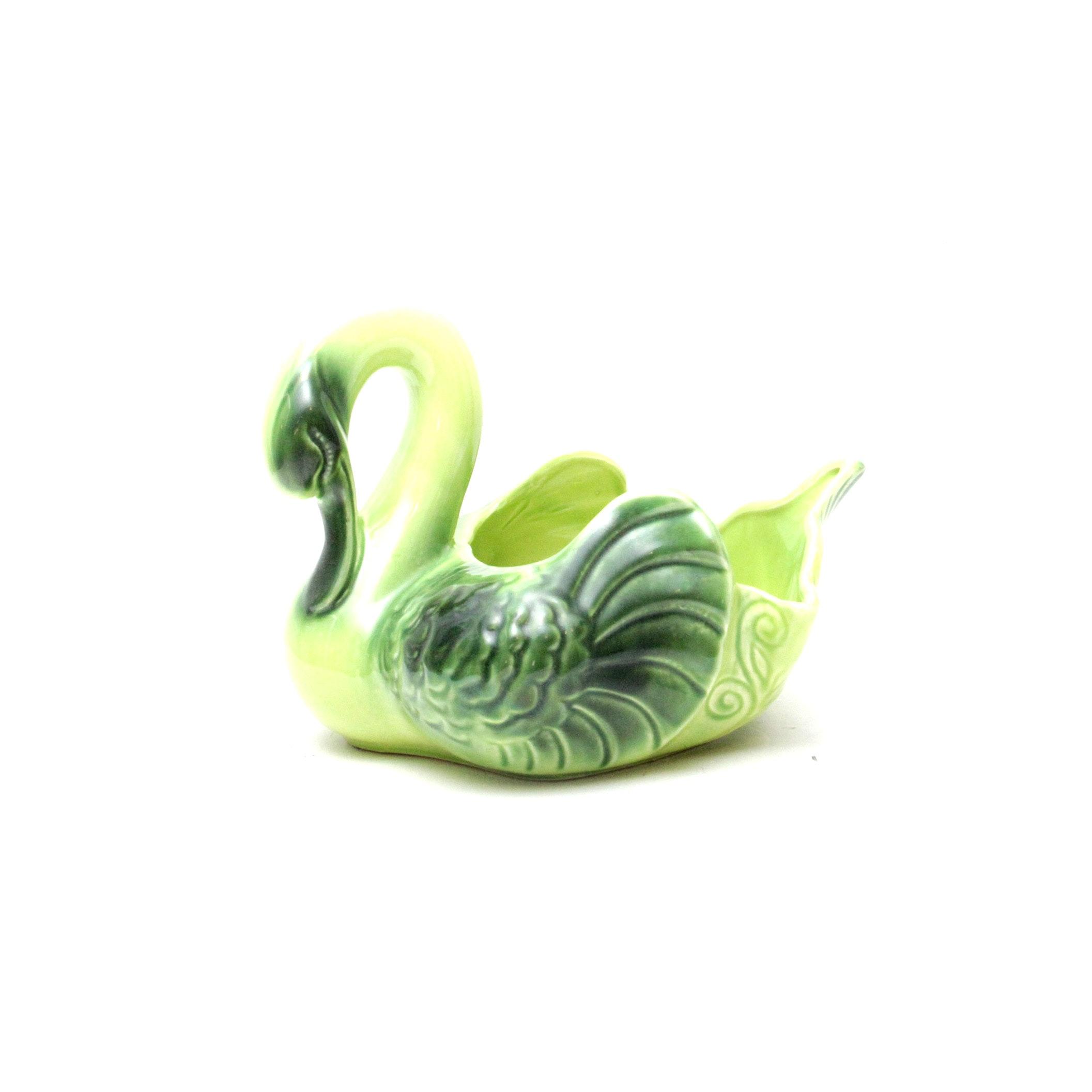 Coronet Ceramic Swan Planter