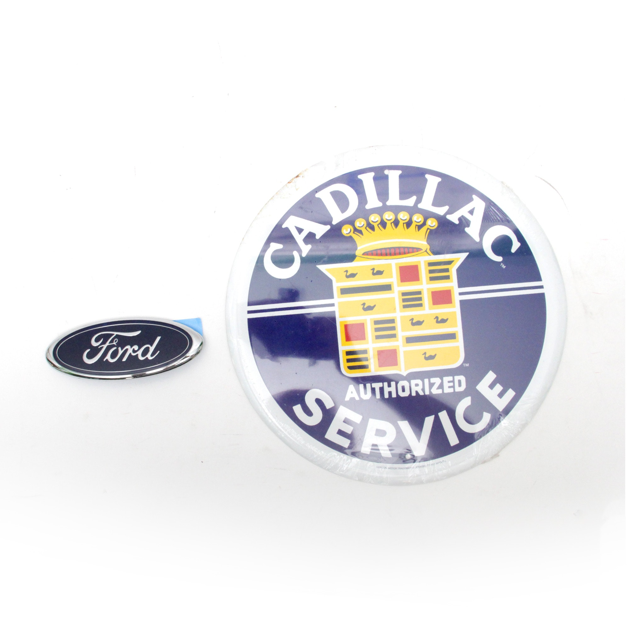 Reproduction Cadillac  Metal Sign and Ford Emblem Logo