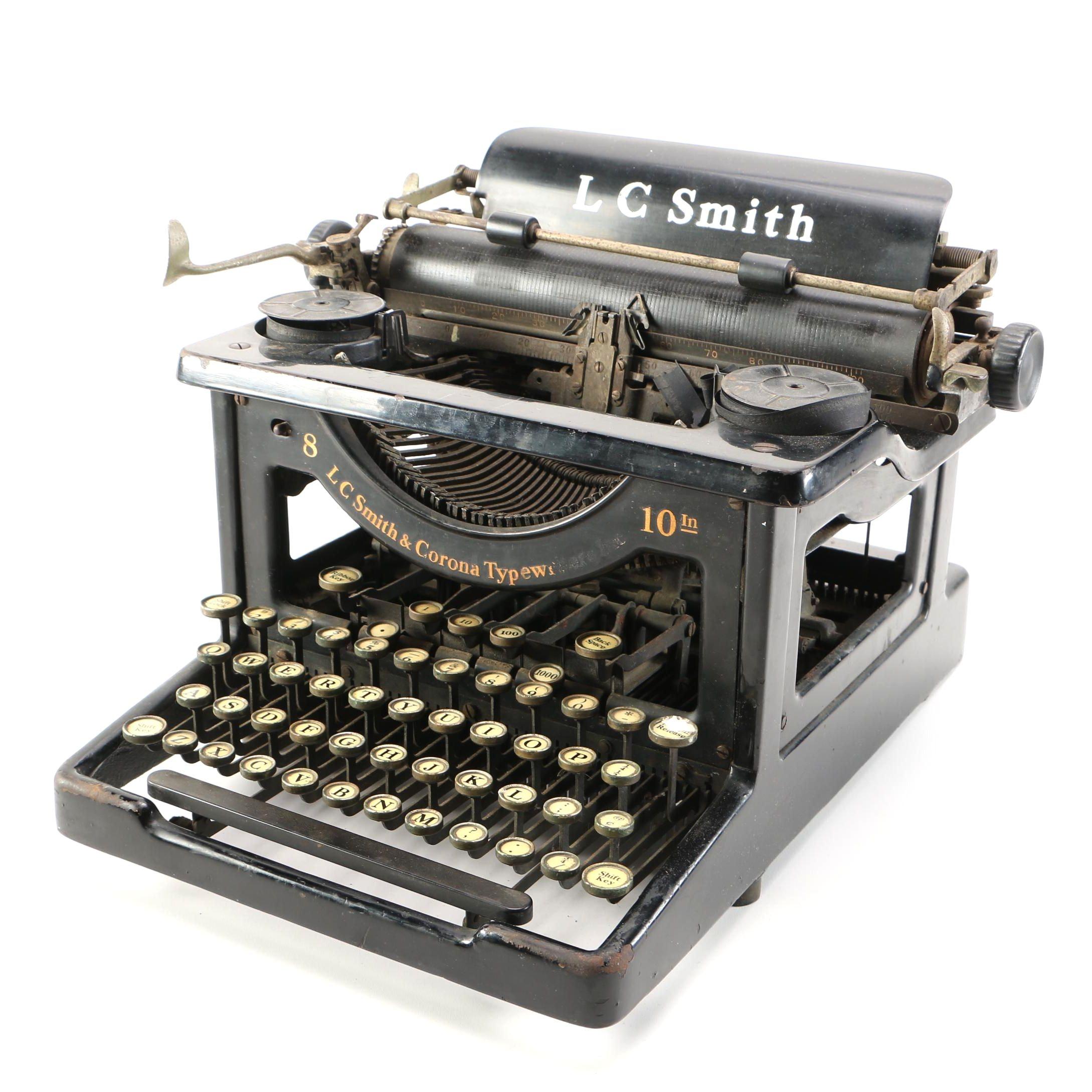 Vintage L.C. Smith 8-10 typewriter